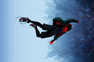SpiderMan Into The Spider Verse Movie 8k Wallpaper