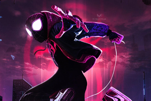 SpiderMan Into The Spider Verse Movie New Arts Wallpaper