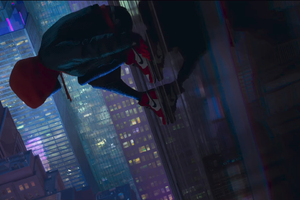 SpiderMan Into The Spider Verse Movie Wallpaper