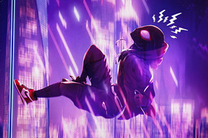 Spiderman Into The Spider Verse Movie Poster 4k