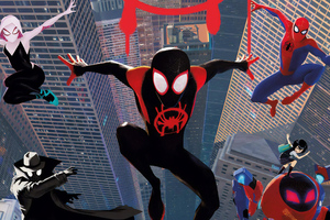 SpiderMan Into The Spider Verse New Poster Art Wallpaper