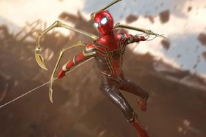 Spiderman Iron 8k Wallpaper