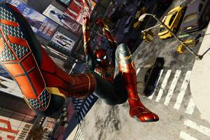 Spiderman Iron Suit Shooting Web