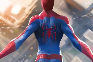 Spiderman Jumping Down 5k Wallpaper