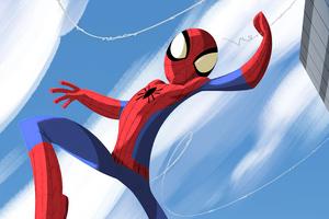 Spiderman Jumping Through 4k