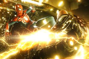 Spiderman Kicking Electro Wallpaper