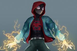 Spiderman Lightning Mood 5k Wallpaper