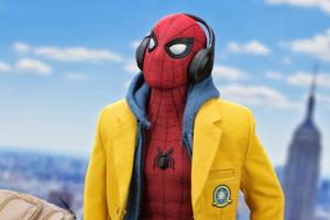 Spiderman Listening Music