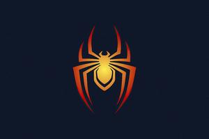 Spiderman Logo Minimal 5k Wallpaper