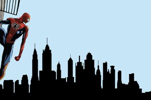 Spiderman Looking At City