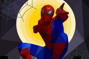 Spiderman Low Poly Art 5k