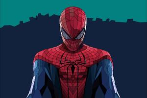 Spiderman Low Poly Art