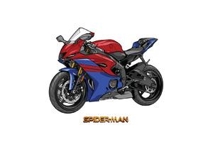 Spiderman Marvel Yamaha R6 Crossover