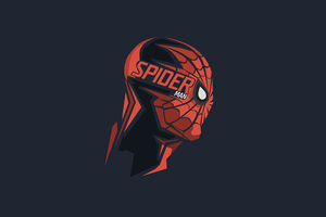 Spiderman Mask Minimalism 8k Wallpaper