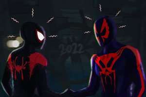 Spiderman Meeting Spiderman 4k Wallpaper