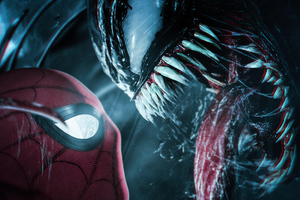 Spiderman Meets Venom 4k