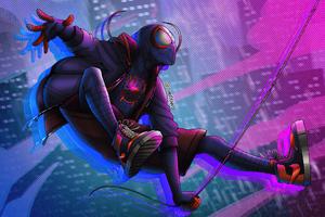 Spiderman Miles 4k Artwork 2020