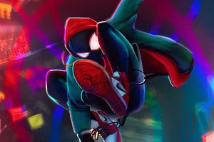 Spiderman Miles Artwork 4k