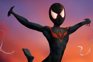 Spiderman Miles Artwork Wallpaper