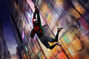 Spiderman Miles Morales Digital Artwork