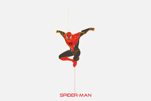 Spiderman Minimal 4k Art
