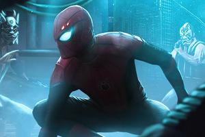 Spiderman Neon Glowing World 5k Wallpaper
