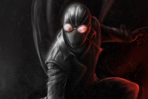 Spiderman Noir Coat 4k Wallpaper