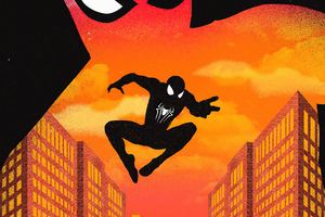 Spiderman Noise Minimal 4k Wallpaper