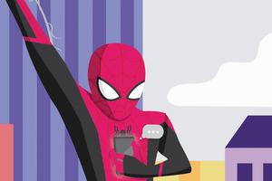 Spiderman On Phone