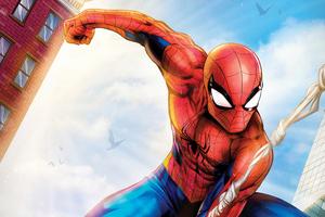 Spiderman Paint Art4k Wallpaper