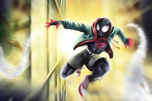 Spiderman Passing By Wallpaper