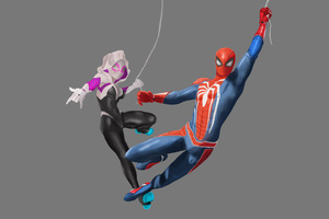 Spiderman Ps4 And Spider Gwen Art