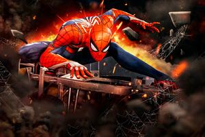 Spiderman Ps4 Game Artwork