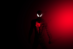 Spiderman Red Burning 4k Wallpaper