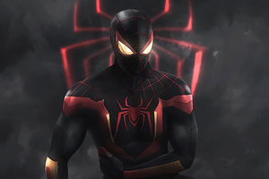 Spiderman Red Suit 4k Wallpaper