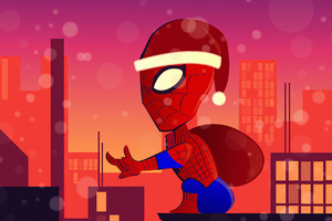 Spiderman Santa Claus Wallpaper