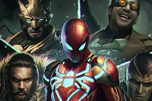 Spiderman Sinister Six 4k Wallpaper