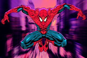 Spiderman Sketchy Art Wallpaper