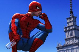 Spiderman Smoking Cigarette