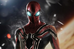 Spiderman Smoking Eyes 4k Wallpaper