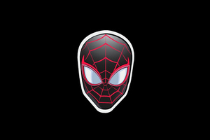 Spiderman Sticker Minimal Badge 5k Wallpaper