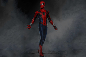 Spiderman Suit Artwork Wallpaper