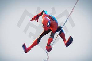 Spiderman Superhero Character Art 4k