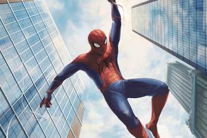 Spiderman Swinging 4k