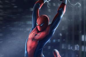 Spiderman Swinging In City 4k Wallpaper