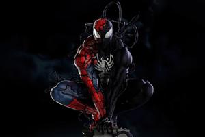 Spiderman Symbiote Transformation 5k Wallpaper