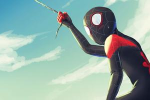 Spiderman Taking Off
