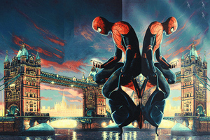 Spiderman Tower Bridge Wallpaper