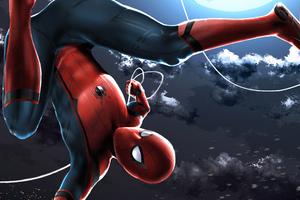Spiderman Upside Down Wallpaper