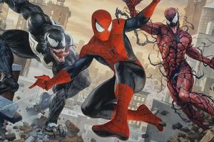 Spiderman Venom And Carnage 4k Wallpaper